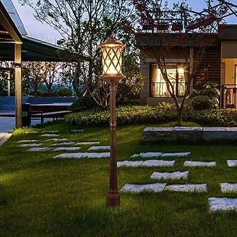 Lámpara camino jardín al aire libre Retro E27 Impermeable IP44 Luz ...