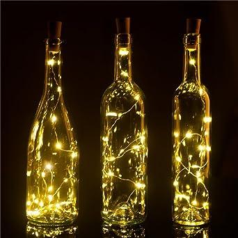 Wine Bottle Lights 6 Pack 15LEDS DIY Empty Liquor Lamps Christmas LED