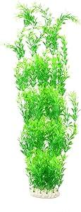 CNZ Aquarium Decor Fish Tank Decoration Ornament Artificial Plastic Plant Green, 23-inch Tall