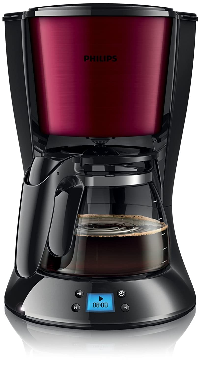 Philips Daily Collection HD7459 - coffee makers (freestanding, Semi-auto, Drip coffee maker, Ground coffee, Americano, Burgundy, Stainless steel) HD7459/31