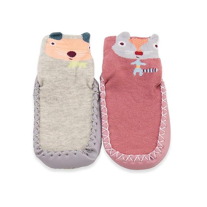 Amazon.com: Zapatillas para bebé, niños, niñas, 2 unidades ...
