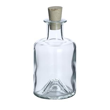 Botella de cristal farmacia 8 unidades, 200 ml, incluye corcho)