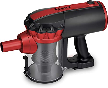 Techwood TAS 659 Aspirateur balai 2 en 1 NoirRouge 0,5 L 600 W