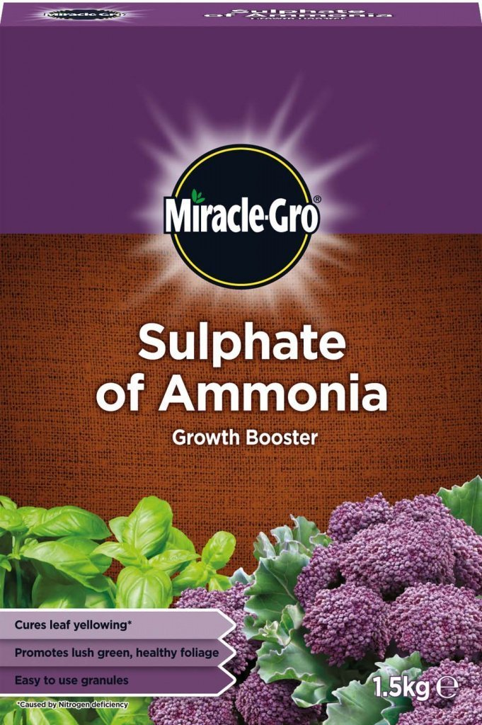 MIRACLE GRO SULPHATE OF AMMONIA GROWTH BOOSTER 1.5kg Miracle-gro