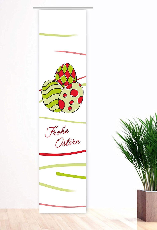 Gr.60x260cm red Tolles Ostermotiv Schiebegardine Bedruckt Fl/ächenvorhang Easter Paint Mix Green Schiebevorhang mit Oster-Motiv