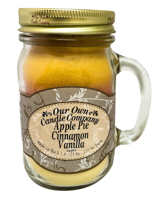 our own candle Company - Candela Grande, Aroma: Torta di Mele, Cannella, Vaniglia, Colore: Giallo LM-ACV