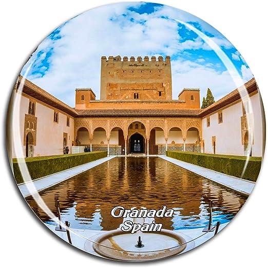 Weekino España Alhambra Granada Imán de Nevera 3D de Cristal de ...