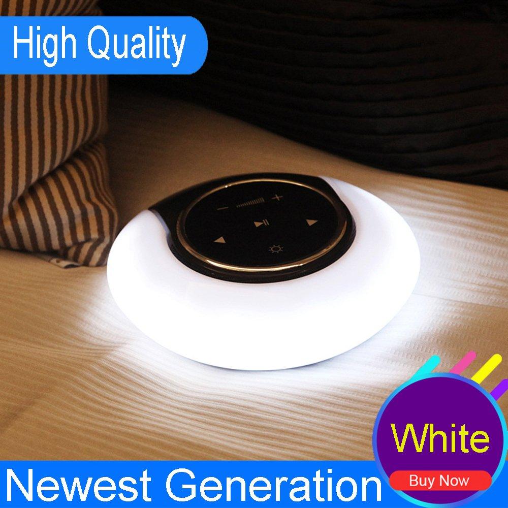 Speaker Lamp, LK&smart Portable Wireless Double Horn Bluetooth Speaker lamp, 360°Surround Sound, night light (New Design)