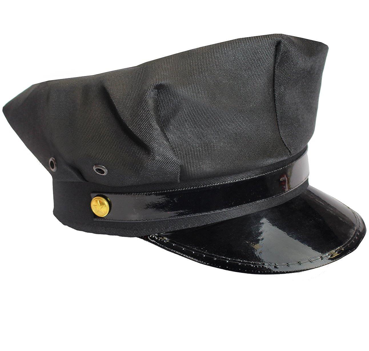 Amazon.com  Black Chauffeur Taxi Limo Driver Hat Cap  Clothing a2ce2d2fc43