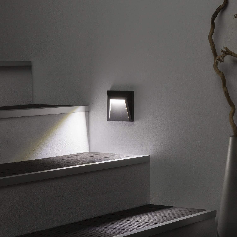 LEDKIA LIGHTING Baliza LED de Superficie Clover IP65 1.5W Gris Blanco Cálido 3000K: Amazon.es: Iluminación