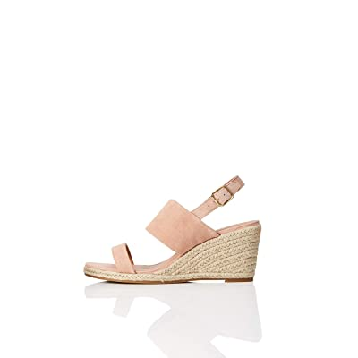 Brand - find. Women's Suede Leather Wedge Heel Espadrille Shoes: Shoes