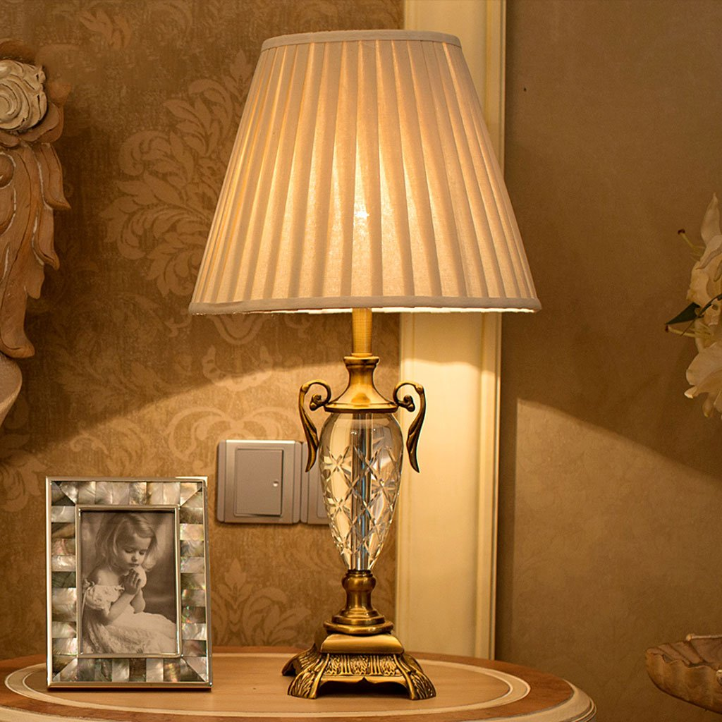 Edge To Table Lamp European Luxury Crystal Table Lamp Simple Living Room Decorative Table Lamp Fashion Bedroom Bedside Lamp by Edge To (Image #4)