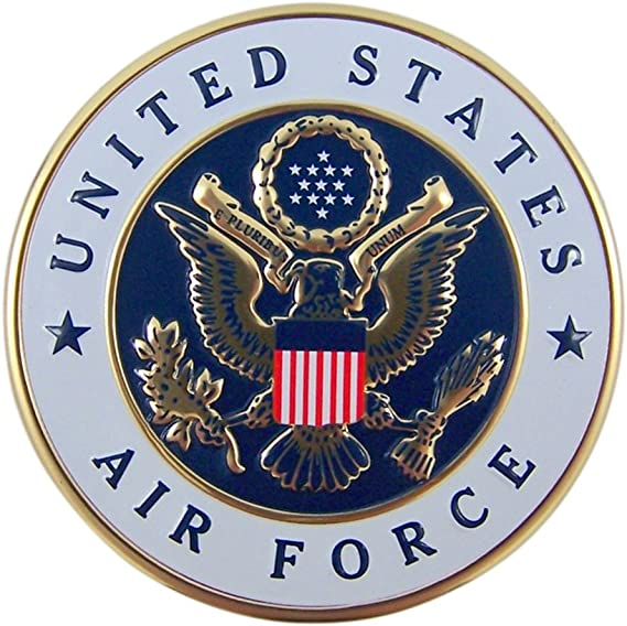 """United States Of America Air Force Veteran Round Military USA Metal Sign 11.5/"""""""