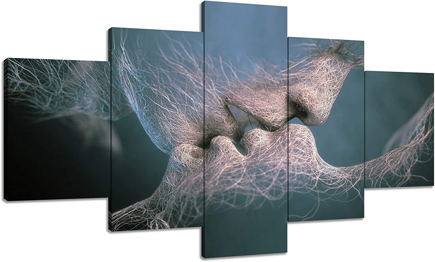 Love Kiss Abstract Canvas Print Wall Mural Art Painting Picture Home Decor HZ