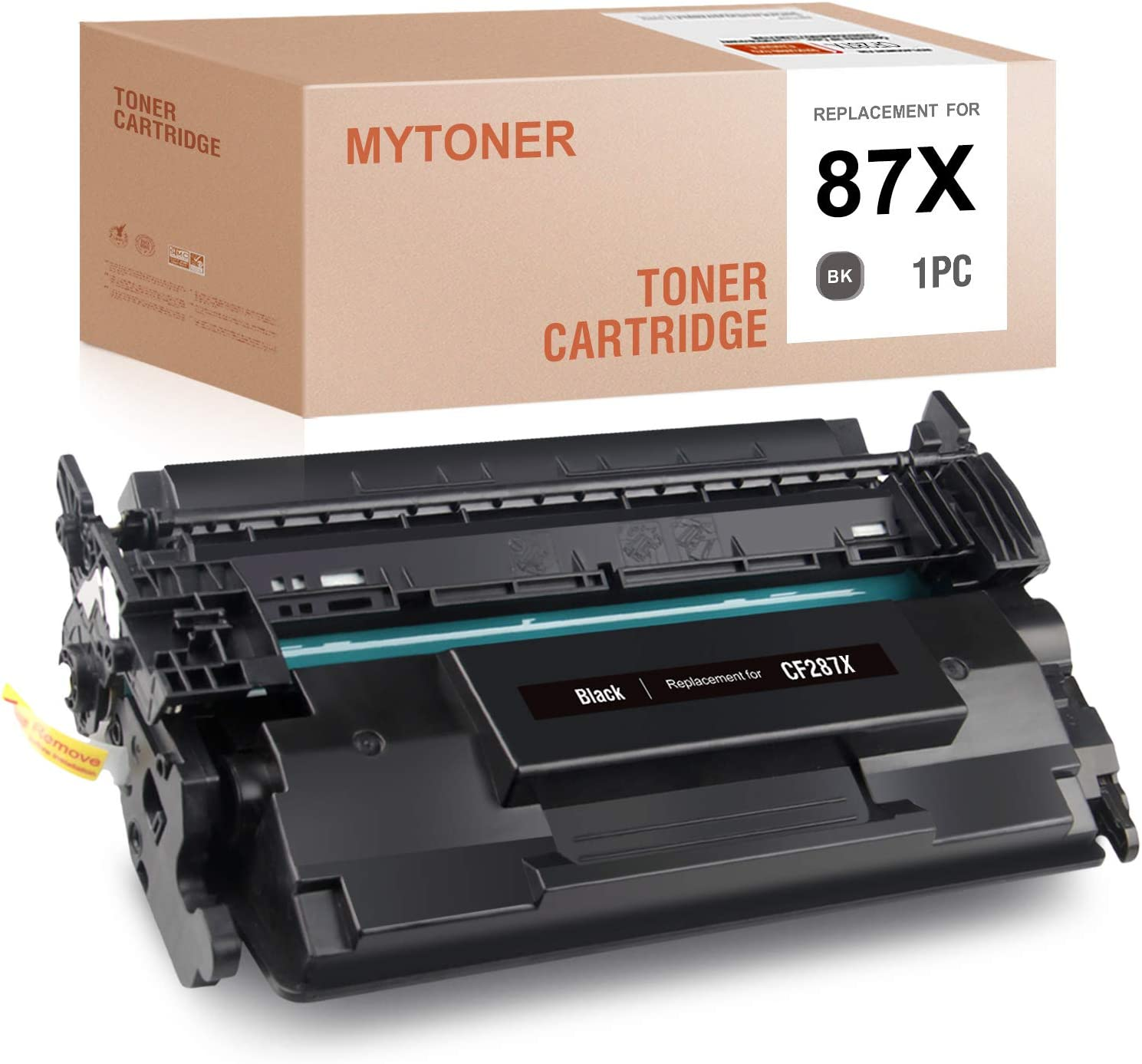 MYTONER Compatible Toner Cartridge Replacement for HP 87X CF287X 87A CF287A High Yield Toner for Laserjet Pro M501 M506 M527 (Black, 1-Pack)