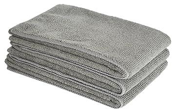 SINLAND bayetas de microfibra limpieza toallas de lavado de coches absorbente coche bayetas 3 paquetes Gris: Amazon.es: Coche y moto