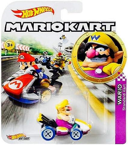 Amazon Com Mario Kart Wario Character Car Die Cast 1 64 Purple