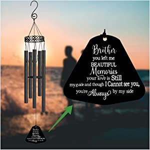 Memorial Wind Chimes for Loss of Brother Sympathy Gifts Loss of Loved One Rememberance Large Angel Windchimes Outside Garden