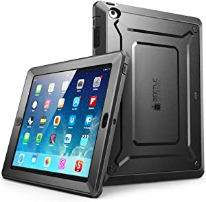 SUPCASE Sup-iPad4-BeetlePro-Black/Black iPad 4 Case, [Heavy Duty] Apple iPad Case [Unicorn Beetle PRO Series] Full-body Rugged Hybrid Protective Case Cover with Screen Protector for the New iPad 3rd and 4th Generation(Black/Black)
