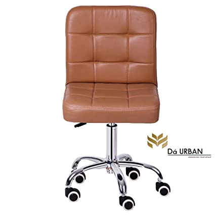Da URBAN Height Adjustable Beige Cadbury Cafeteria & BAR Wheels Stool/Chair (ISO and BIFMA Certified)