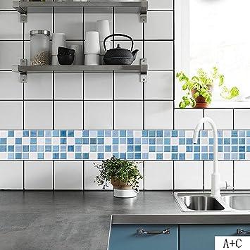 Schon Elobaby Mosaik Fliesen Aufkleber Stil Treppe 3D Wandaufkleber Wohnzimmer  Schlafzimmer Küche Dekorationen , 1