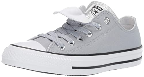5c54e2541fc3 Converse Women s Chuck Taylor All Star Double Tongue Glitter Low Top Sneaker