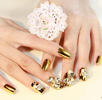 Amazon Number 19 Silver Fashion Japanese 3d Nail Art 24