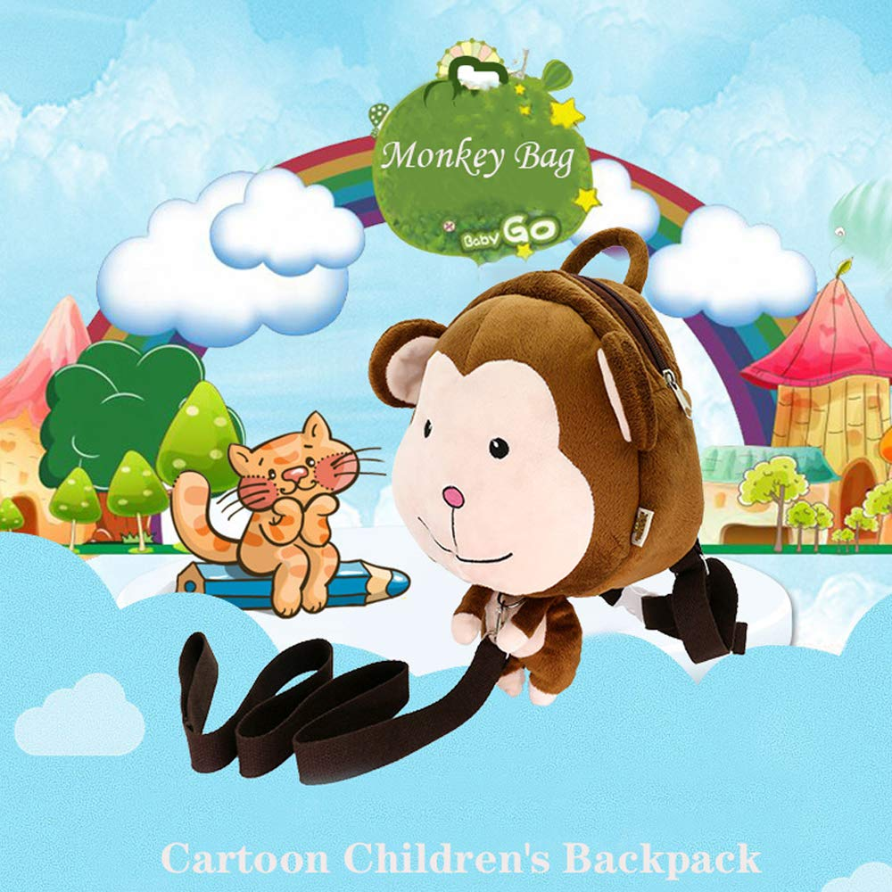 Cartoon Animal School Bag with Safety Harness Leash Preschool Backpack Bag Bear Design Kids Backpack Bag DENNOV Toddler Backpack Bag for Girl and Boy 1-6 Years