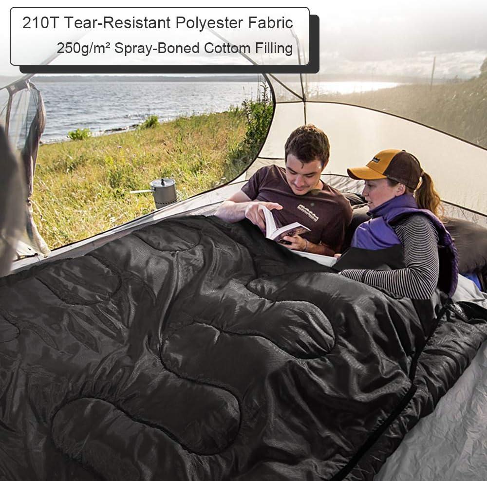 la Randonn/ée Forceatt Sac de Couchage,Sac de Couchage Double /étanche,pour Le Camping Les Tentes,La Temp/érature Applicable est 5/°C-20/°C,3-4 Saisons la Randonn/ée