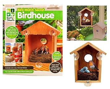 Pleasant Deluxe Bird Watch Wooden Secret Birdhouse Garden Birds House Home Interior And Landscaping Ferensignezvosmurscom