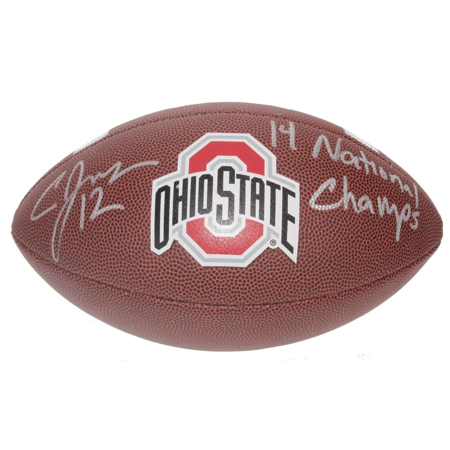 Cardale Jones Autographed Signed Ohio State Buckeyes Wilson Logo Football - 14 National Champs - Certified Authentic