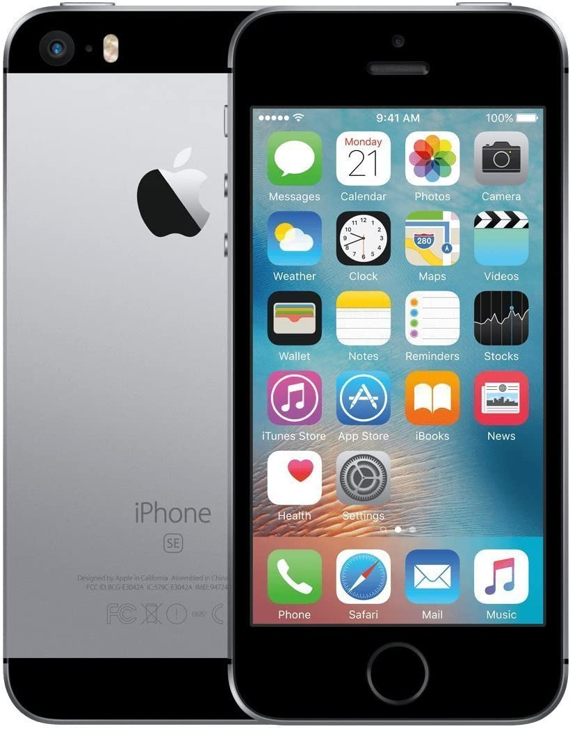 Apple iPhone SE, 16GB, Space Gray - For T-Mobile (Renewed)