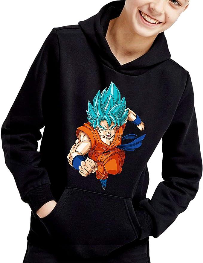 The Fan Tee Sudadera de NIÑOS Dragon Ball Goku Vegeta Bolas de Dragon Super Saiyan 072