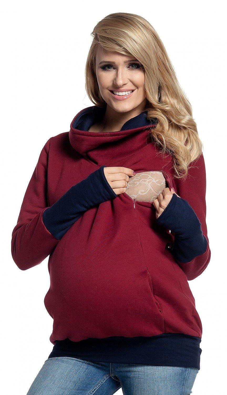 Para Mujer Sudadera Capucha Panel de la Lactancia Top Premamá. 330p: Amazon.es: Ropa y accesorios