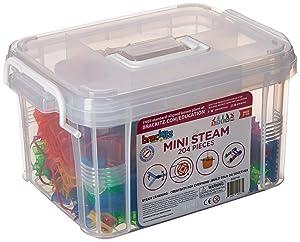 Brackitz Mini STEAM Education Center | STEM Construction Building Block Toy | Sensory Learning Toys for Children PreK-6 | 204 Pc Set