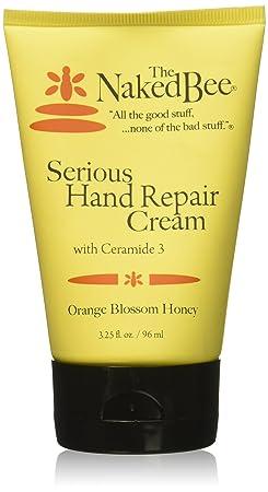 The Naked Bee Orange Blossom Honey Serious Hand Repair Cream, 3.25 Oz