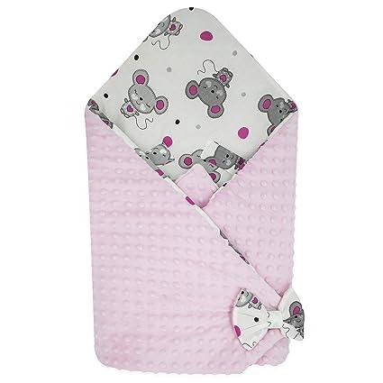 BlueberryShop Minky manta de forro polar para envolver al bebé en el coche| Saco de dormir para bebés recién nacidos | Para bebés de 0-3 meses | ...