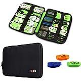 Damai Universal Cable Organiser Electronics Accessories Case USB Drive Shuttle (Black)