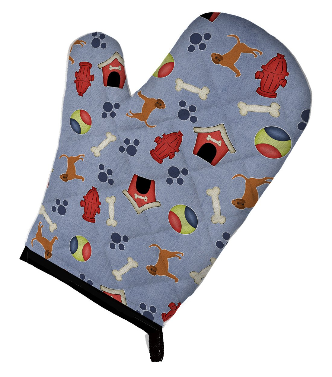 Caroline's Treasures BB4050OVMT Dog House Collection Bloodhound Oven Mitt, Large, multicolor