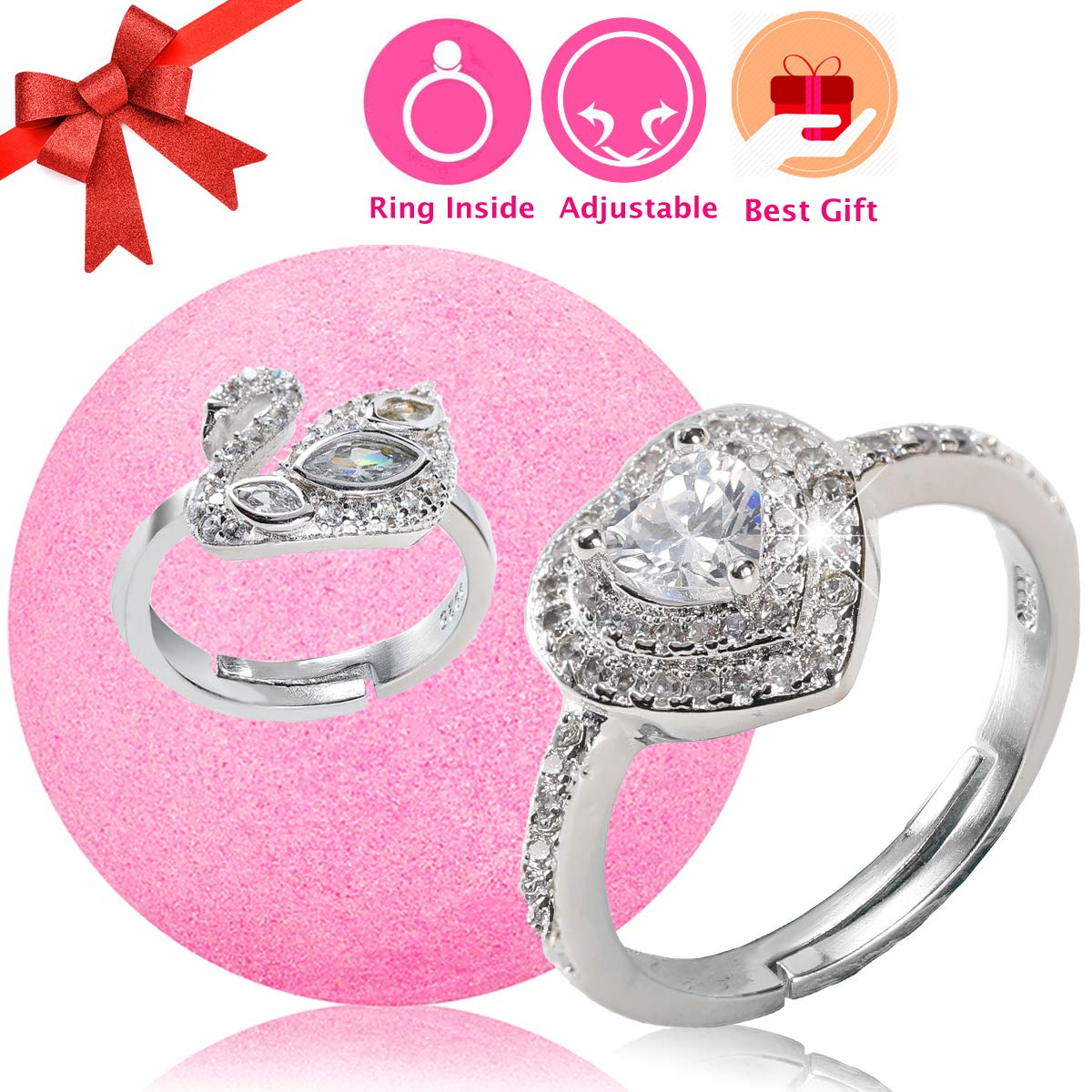 Amazon.com : Jewelry Bath Bomb with Surprise Ring Prizes Inside for ...