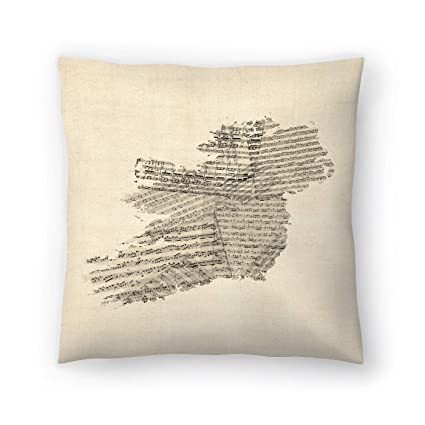 Amazon com: American Flat Old Sheet Music Map Of Ireland Map