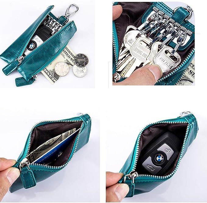 Details about  /Simple Artificial Leather Keychain Ladies Pick Holder Pendant Bag Case CZ