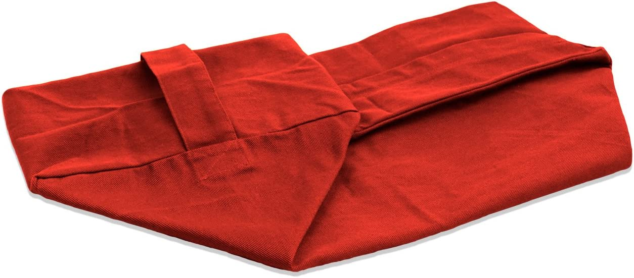 aa129g Hot Red Cotton Canvas Fabric Yoga Case Bolster Cushion Cover Custom Size