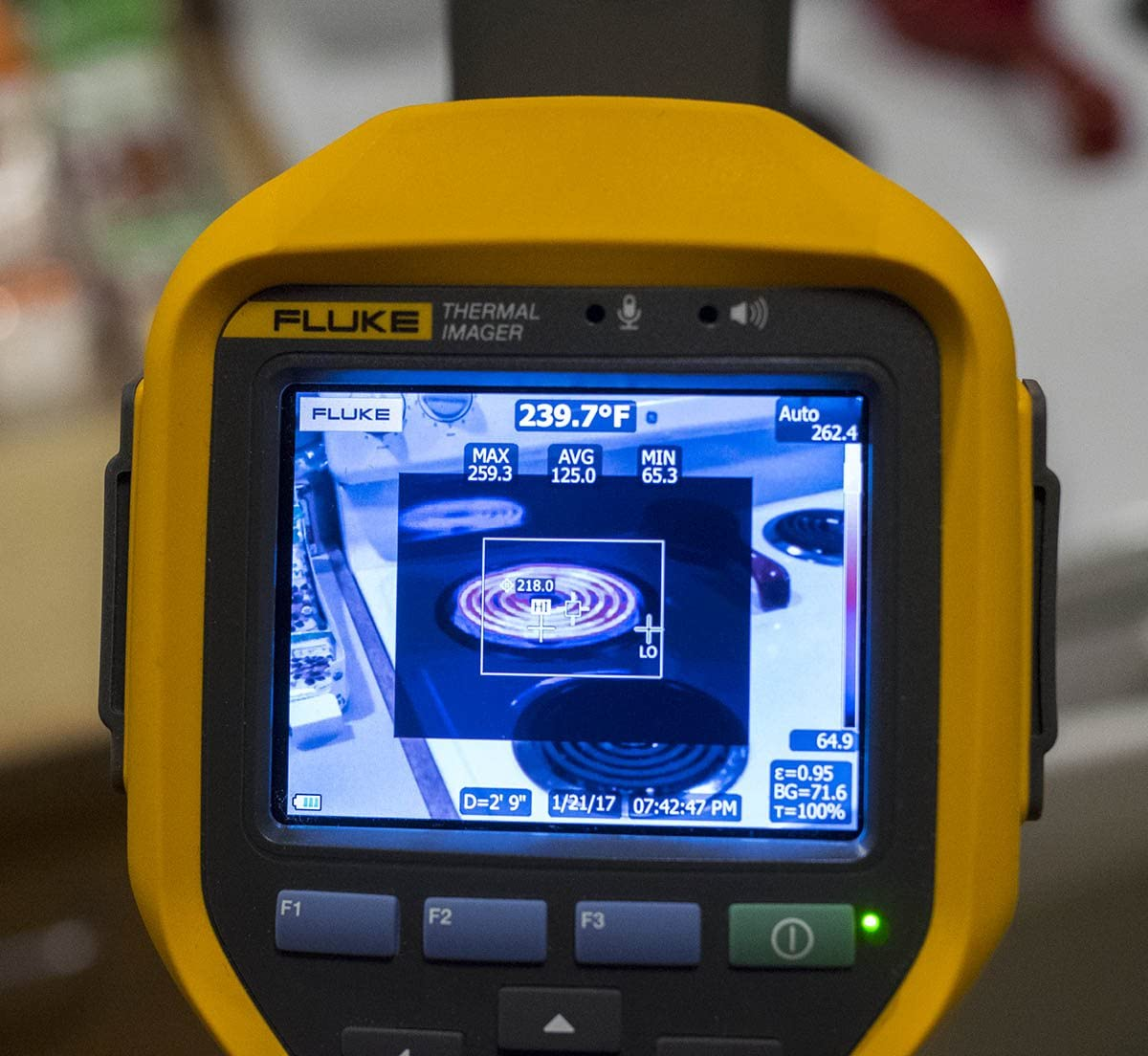 Fluke TI200 60HZ Industrial Thermal Infrared Camera with LaserSharp Auto Focus, IR-Fusion AutoBlend, Fluke Connect Wireless, 200×150 Resolution