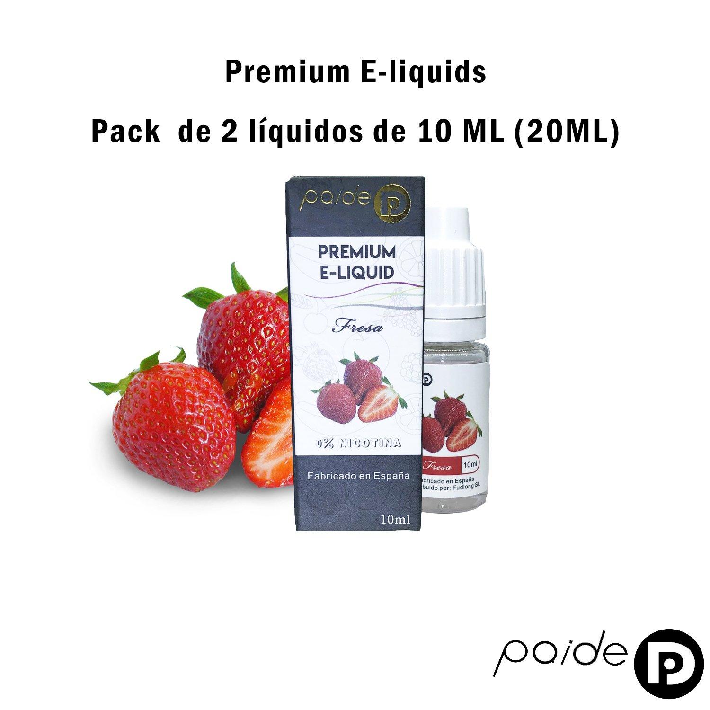 2 x 10ML Paide Premium E-Liquid - Sin nicotina - Líquido para cigarrillo electrónico - 50VG 50PG (Toro Rojo): Amazon.es: Salud y cuidado personal