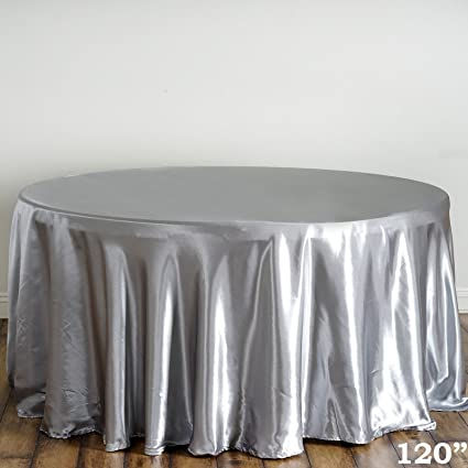 Nice BalsaCircle 120 Inch Silver Round Satin Tablecloth Table Cover Linens For  Wedding Party Catering Kitchen