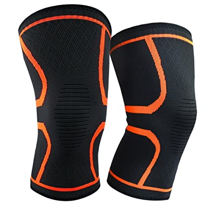 Knee Support Sleeve Pair Compression Gym Sports Cycling Pain Relief Fitness Clothing & Accessories