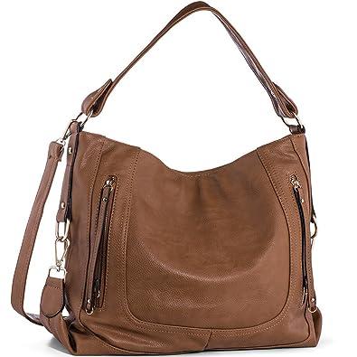1b565579d5fdb UTAKE Damen Handtasche Umhängetaschen PU Leder Schultertaschen Frauen  Handtaschen Braun Groß 38 30 12