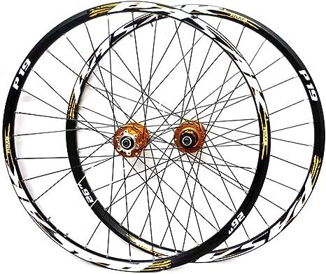LYzpf Montaña Llantas Bicicleta Rueda Perfil Delantera Trasera Bici Rim Conjunto 26/27.5/29 Inch Accesorios de Equipamiento De Aleación Aluminio: Amazon.es: Deportes y aire libre