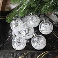 Outdoor Christmas Plastic Ball,2.36 Inch Christmas Tree Decorations Ball with Specular Reflection,Giant PVC Holiday…